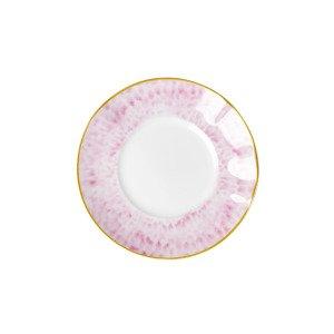 Rice Glaze Print Lautanen Posliini Vaaleanpunainen 17 Cm