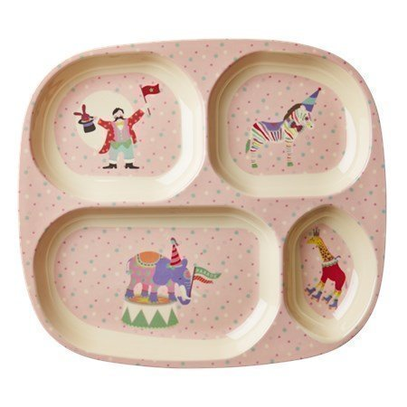 Rice Kids 4 Room Lautanen Cirkus Pinkki