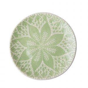 Rice Lace Print Asetti Keraaminen Vihreä 21 Cm