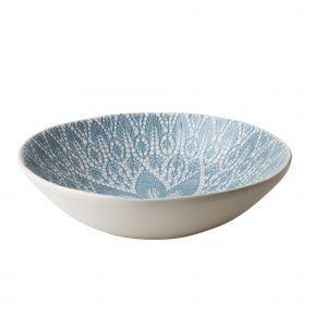 Rice Lace Print Salaattikulho Keraaminen Sininen 31 Cm