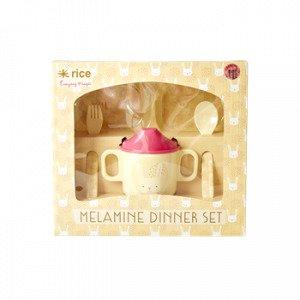 Rice Lahjasetti Melamiini Vaaleanpunainen 4-Osainen