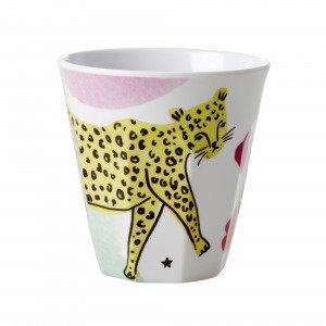 Rice Leopard Print Muki Pieni Melamiini Pastelli