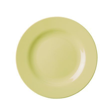Rice Melamine Round Side Plate Pastel Yellow ø 20 cm