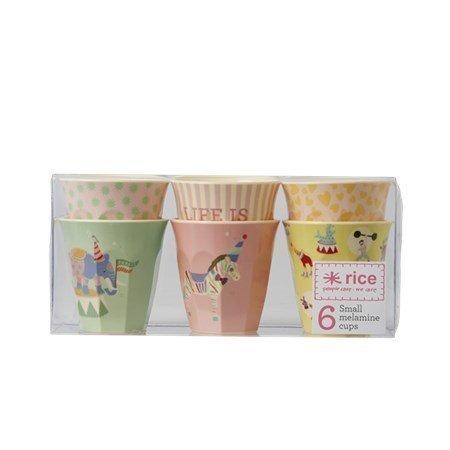 Rice Muki 6-pack Cirkus Pinkki/Keltainen
