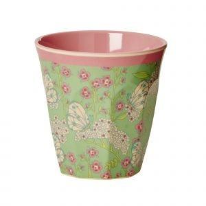 Rice Muki Butterfly & Flower 9 Cm