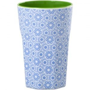 Rice Muki Latte Melamiini Blue And White Marrakesh Print