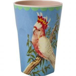 Rice Muki Latte Melamiini Vintage Cockatoo Print Beige