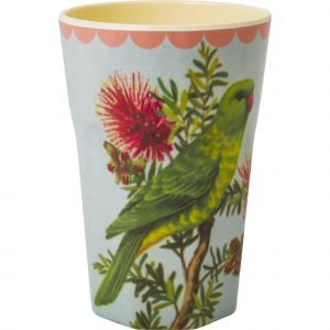 Rice Muki Latte Melamiini Vintage Parakeet Print Cream