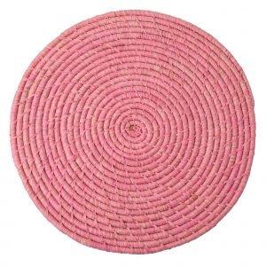 Rice Raffia Pöytätabletti Soft Pink 40 Cm