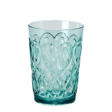 Rice Swirly Embossed Tumbler Acrylic Mint