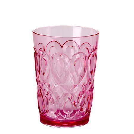 Rice Swirly Embossed Tumbler Acrylic Pink