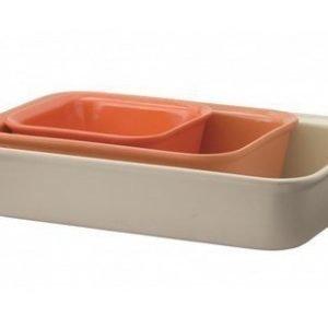 Rig-Tig Cook & Serve Uuninkestävä vuoka oranssi 3 kpl