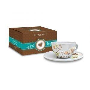 Ritzenhoff Coffee Love Capuccinokuppi Ja Lautanen Körner