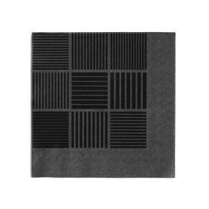 Rosendahl Servetti Musta 40x40 Cm 20-Pakkaus