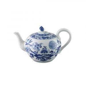 Rosenthal Blau Zwiebelmuster Teekannun Kansi Sininen