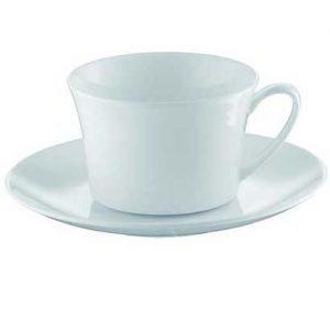 Rosenthal Jade Teekuppi 4 Matala Valkoinen