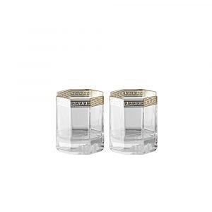 Rosenthal Versace Medusa D'or Whisky 17 Cl 2-Pakkaus