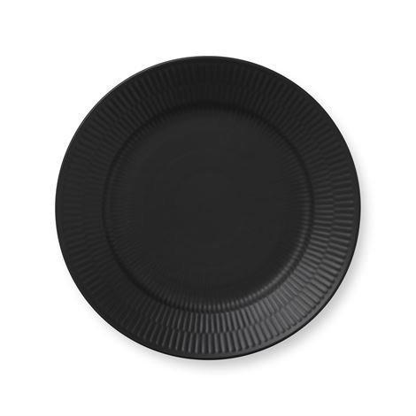 Royal Copenhagen Black Fluted Lautanen Ø 22 cm