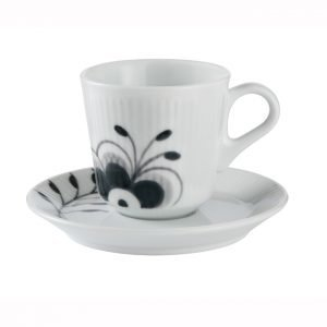 Royal Copenhagen Black Fluted Mega Espressokuppi Vadilla 9 Cl