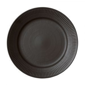 Royal Copenhagen Black Fluted Ruokalautanen 27 Cm
