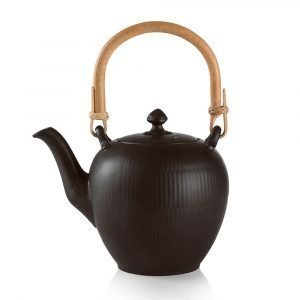 Royal Copenhagen Black Fluted Teekannu 75 Cl