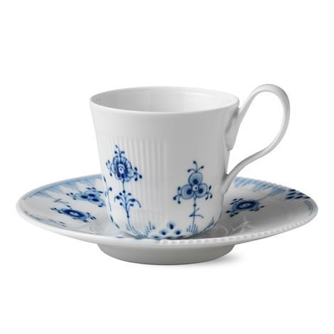 Royal Copenhagen Blue Elements Kuppi Ja Aluslautanen 25 cl