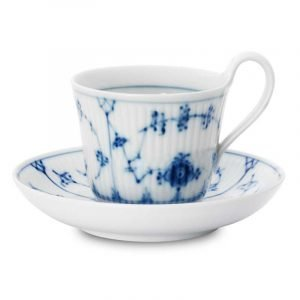 Royal Copenhagen Blue Fluted Aamiaiskuppi Ja Lautanen 25 Cl