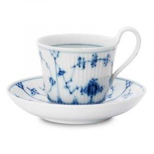 Royal Copenhagen Blue Fluted Aamiaiskuppi Ja Lautanen 25 Cl