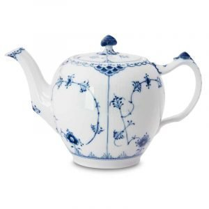 Royal Copenhagen Blue Fluted Half Lace Teekannu 1 L