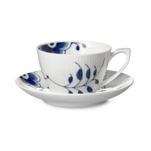 Royal Copenhagen Blue Fluted Mega Teekuppi & Lautanen 28 Cl