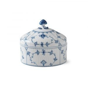 Royal Copenhagen Blue Fluted Plain Bonbonniére 54 Cl