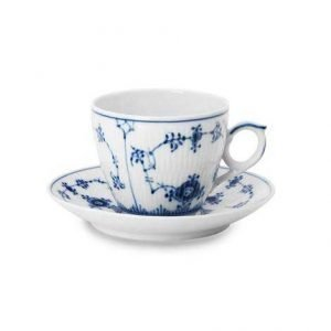 Royal Copenhagen Blue Fluted Plain Espressokuppi Ja Lautanen 10 Cl