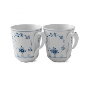 Royal Copenhagen Blue Fluted Plain Kuppi 37 Cl 2-Pakkaus