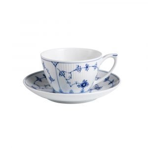 Royal Copenhagen Blue Fluted Plain Kuppi Ja Lautanen 28 Cl