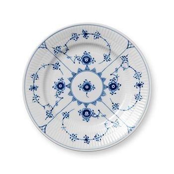 Royal Copenhagen Blue Fluted Plain Sininen Lautanen Ø 17 cm