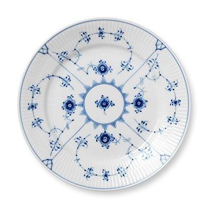 Royal Copenhagen Blue Fluted Plain Sininen Lautanen Ø 22 cm