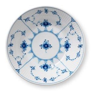 Royal Copenhagen Blue Fluted Plain Syvä Lautanen 17 Cm