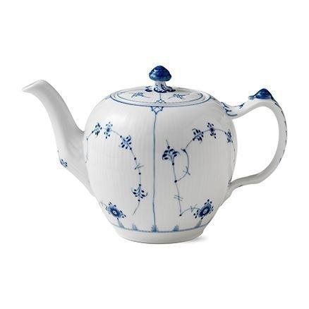 Royal Copenhagen Blue Fluted Plain Teekannu Sininen 100 cl