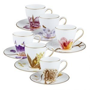 Royal Copenhagen Flora Espressokuppi Vadilla 10 Cl 6-Pakkaus