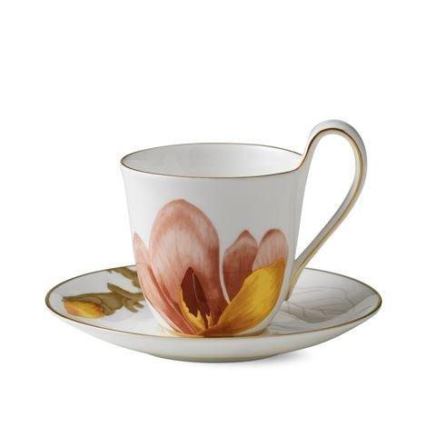 Royal Copenhagen Flora Kuppi Ja Aluslautanen Magnolia