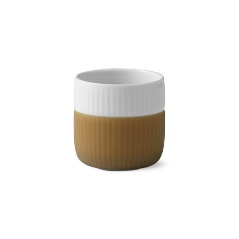 Royal Copenhagen Fluted Contrast Espressomuki Latte Vaaleanruskea
