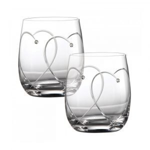 Royal Doulton Promises Two Hearts Entwined Tumbler 2 Kpl
