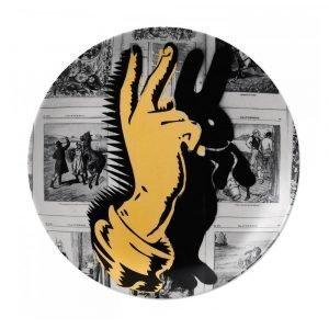 Royal Doulton Street Art Lautanen Bunny Fingers 27 Cm