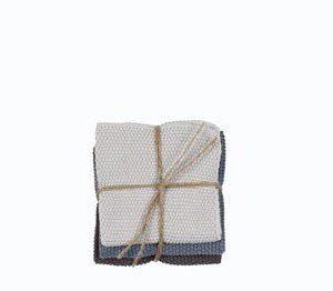 Södahl Knitted Kitchen Tiskirätti Harmaa/Sininen 3-pack 25cm x 25cm