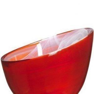 SEA glasbruk Candy Kulho punainen