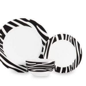 Sabichi Zebra Astiasto 12-Osainen