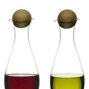 Sagaform Öljy-/viinietikkapullot tammikorkit