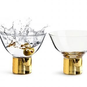 Sagaform Club Cocktail Lasi / Jälkiruokalasi Kulta 2 Kpl