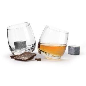 Sagaform Club Viskilasi & Whiskey Kivet 2-Pakkaus