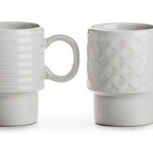 Sagaform Coffee & More Espressomuki Valkoinen 10 Cl 4 Kpl